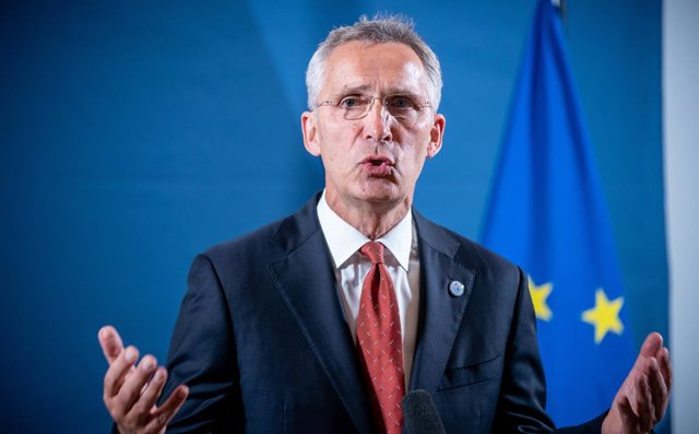 FILED - 26 August 2020, Berlin: Jens Stoltenberg, Nato Secretary General, speaks during a press statement at the start of the informal meeting of EU defence ministers. Stoltenberg said that the Taliban must keep promises this came in light of the falterin