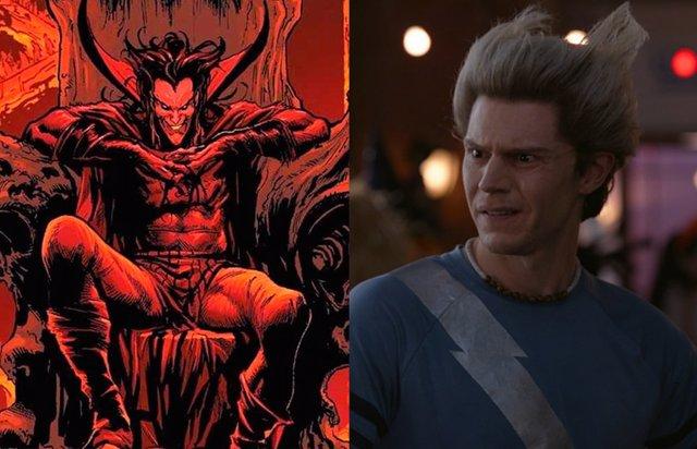 Así será Evan Peters (Pietro) como Mephisto en WandaVision (Bruja Escarlata y Visión)