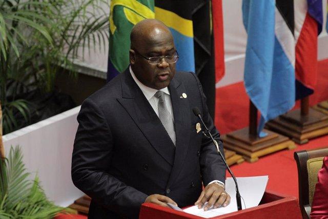 El presidente de República Democrática del Congo (RDC), Félix Tshisekedi.