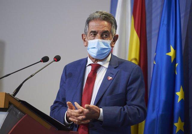 El president de Cantàbria, Miguel Ángel Revilla, intervé en una roda de premsa a la Conselleria de Desenvolupament Rural, a Santander. Cantàbria (Espanya), 11 de febrer del 2021.