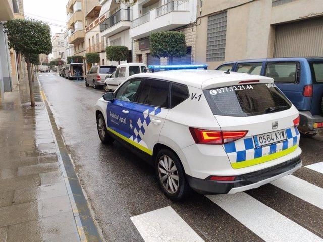 Cotxe de la Policia Local.