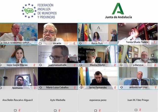 El Pleno Del Consejo Andaluz De Gobiernos Locales (CAGL), Presidido Por El Alcalde De Dos Hermanas (Sevilla), Francisco Toscano