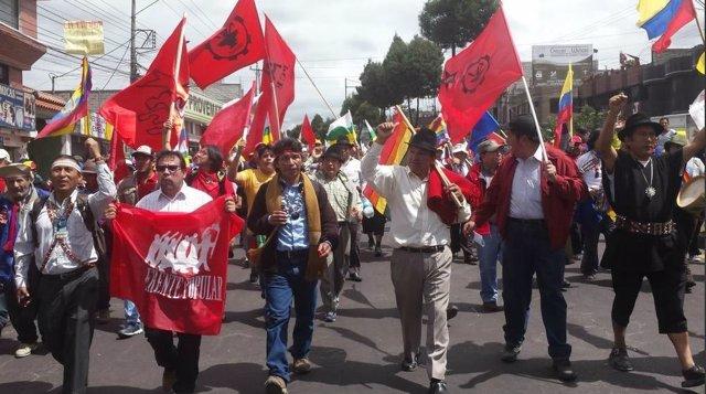 Este miércoles 12, la Marcha Indígena de Ecuador ha llegado a la capital, Quito, tras diez días de caminata por el país, en los que han recorrido más de 700 kilómetros
