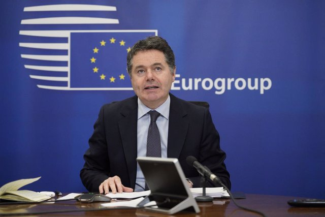 30 November 2020, Ireland, Dublin: Eurogroup president Paschal Donohoe speaks during an online press conference at the Irish Ministry of Finance following an Eurogroup video conference meeting. Photo: Barry Cronin/European Council/dpa - ATTENTION: editori