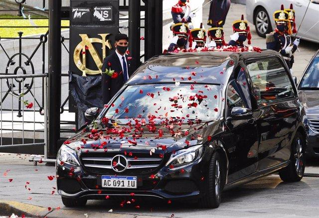 Cortejo fúnebre del expresidente argentino Carlos Menem