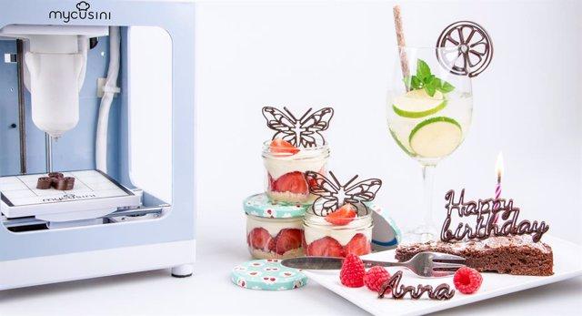 3D Chocolate Printer Mycusini / 3D Food Printer, Cake Decorations, Individual Lettering, Make Own Chocolates