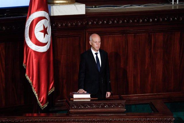 Kais Saied toma posesión como nuevo presidente de Túnez