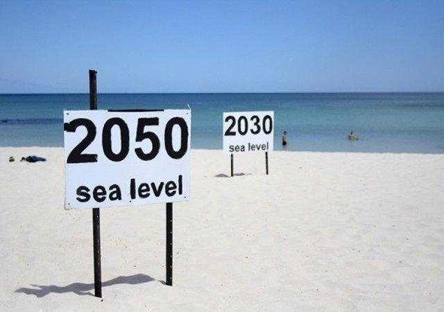 Subida del nivel del mar estimada
