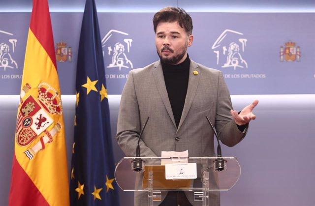 El portaveu d'ERC al Congrés dels Diputats, Gabriel Rufián