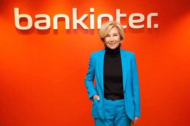 La consejera delegada de Bankinter, María Dolores Dancausa, durante la presetación de resultados de 2020.