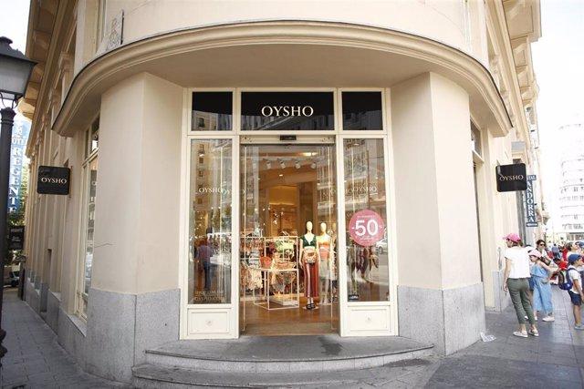 Una de las tiendas de la marca de Oysho (Inditex)