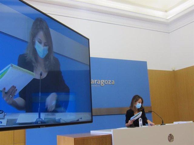 La portavoz del Gobierno de Zaragoza, María Navarro