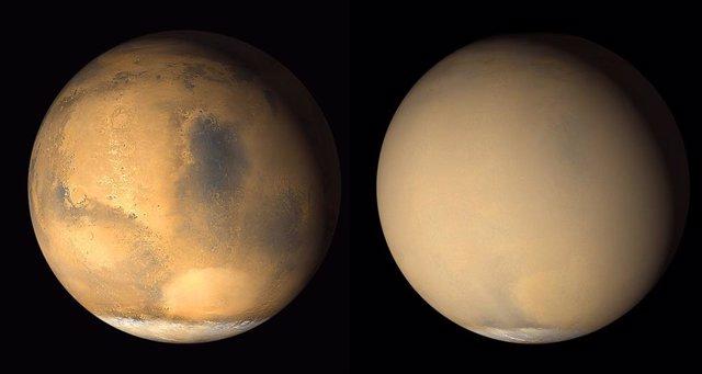 Tormenta global de polvo en Marte de 2016