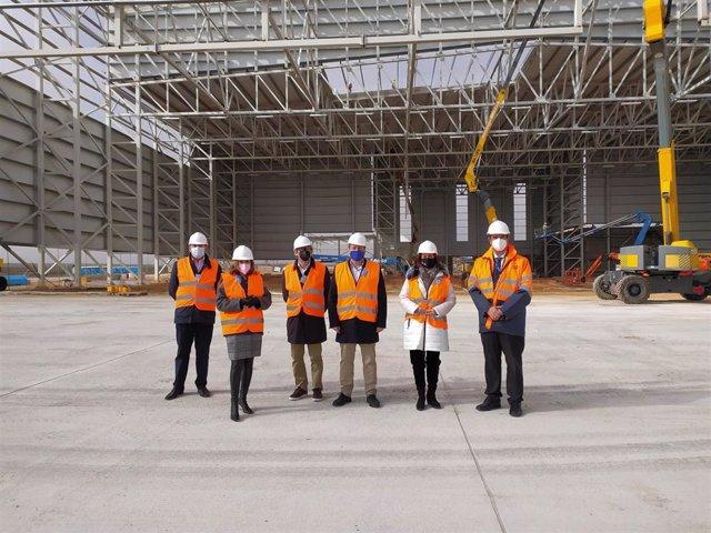 Visita de los representantes del Consorcio al Aeropuerto de Teruel.