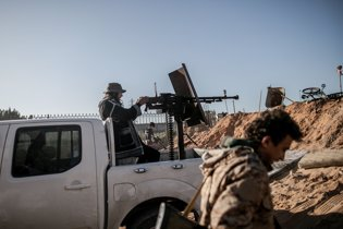 Combatientes del Gobierno de unidad de Libia