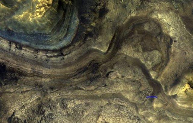 Detalle de la superficie marciana
