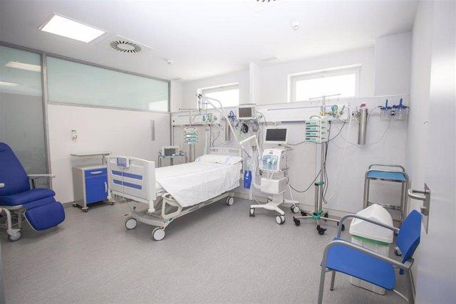 Area polivalente de críticos del Hospital San Pedro de Logroño, coronavirus