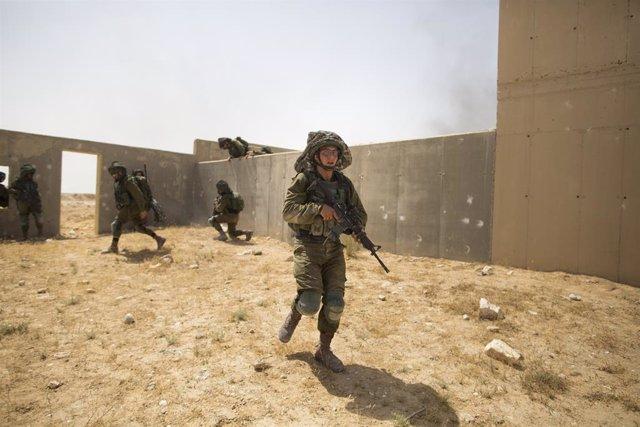 Imagen de archivo de unas maniobras del ejército israelí.