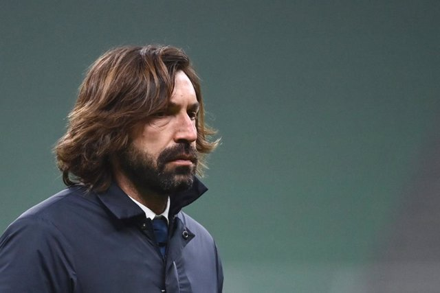 02 February 2021, Italy, Milan: Juventus' coach Antonio Andrea Pirlo is pictured during the Coppa Italia semi-final first leg soccer match between Inter Milan and Juventus at the Giuseppe Meazza stadium. Photo: Massimo Paolone/LaPresse via ZUMA Press/dpa