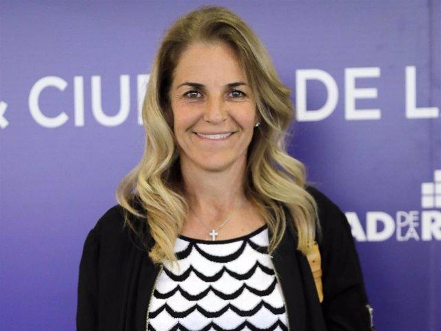 """Arantxa Sánchez Vicario en el foro """"Cuatro décadas de deporte en democracia"""" celebrado en la Ciudad de la Raqueta, en Madrid"""