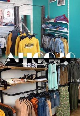 Detalle de las tiendas Atico30 y Atico30 Kids