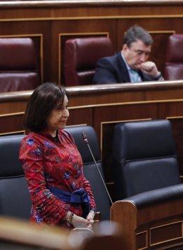La ministra de Defensa, Margarita Robles,