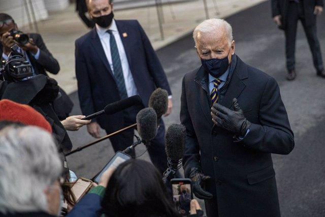 El presidente de Estados Unidos, Joe Biden, antes de su intervención en un acto en Milwaukee.