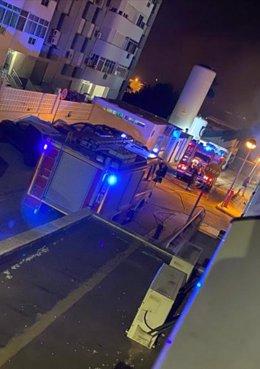 Incendio registrado en la madrugada de este miércoles en el hospital de Melilla