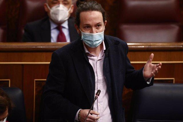 El secretario general de Podemos y vicepresidente segundo del Gobierno, Pablo Iglesias,