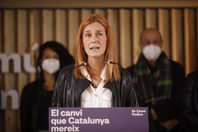 La candidata dels Comuns a la presidència de la Generalitat, Jéssica Albiach.