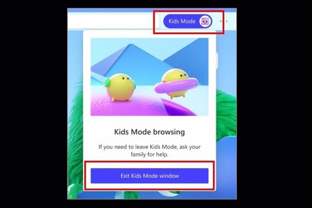 Modo niños para Microsoft Edge