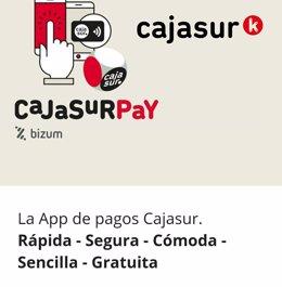 La app de Cajasur para Bizum ya se puede usar para comprar y cobrar loteria.