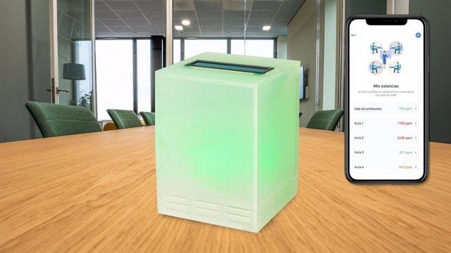 Medidor de CO2 de Sanotec