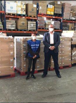Foto de archivo de una de las acciones de donación de alimentos por parte de Mercadona.