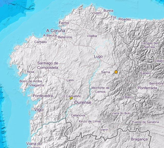 Caputra del mapa de Instituto Geográfico Nacional