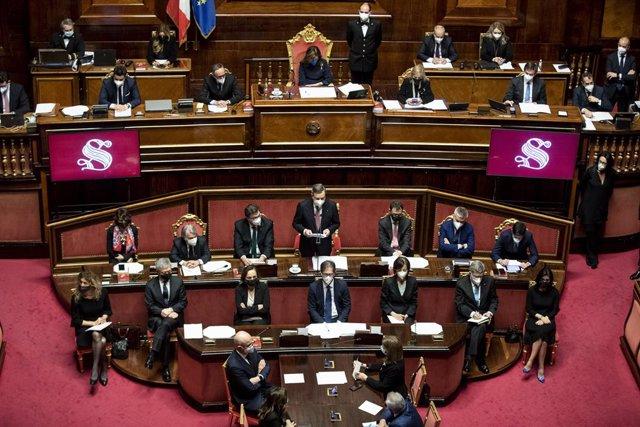 Italia.- Draghi tira de europeísmo para pedir la confianza del Senado de Italia a su Gobierno