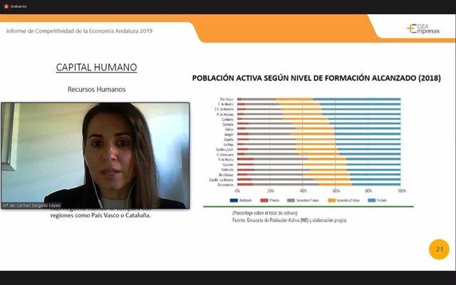 """La CEA señala en un informe a la formación y la inversión en I+D+i como """"retos pendientes"""" en Andalucía"""