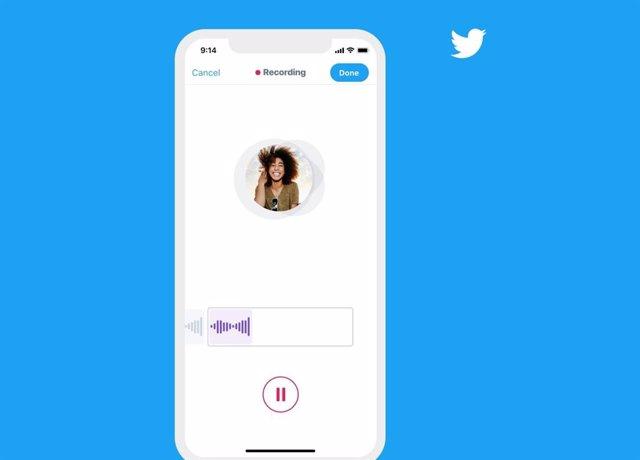 Archivo - Twitter prueba los mensajes de voz a través de los Mensajes Directos
