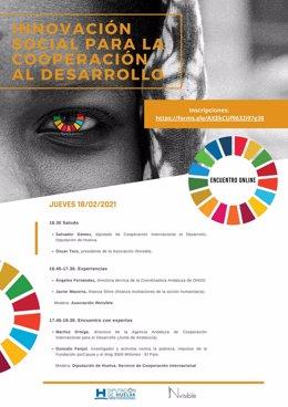 Huelva.- Coronavirus.- La Diputación celebrará un coloquio online sobre innovación social en el ámbito de la cooperación