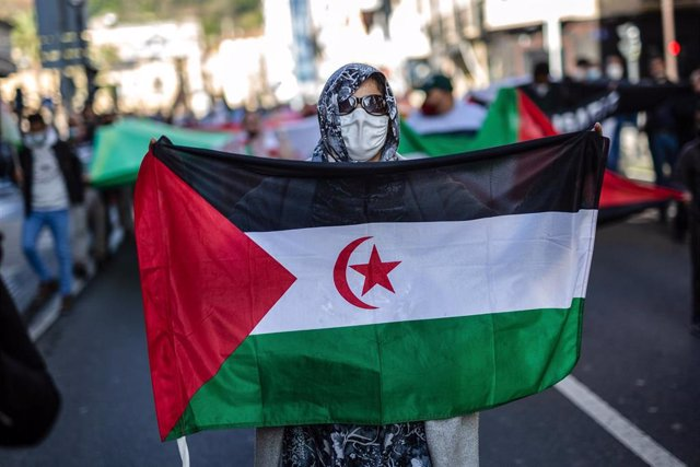 Archivo - Protest in support of Sahrawi people in Spain