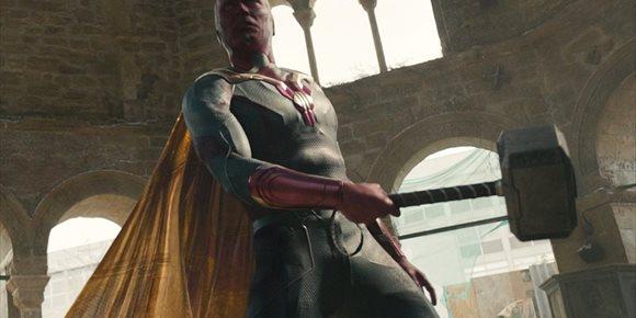 1. WandaVision explica por qué Visión es digno de levantar Mjolnir, el martillo de Thor en Vengadores: La era de Ultrón