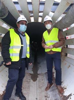 Jaén.- MásJaén.- Las obras para mejorar la red de agua en alta de Huesa se encuentran ya al 70 por ciento