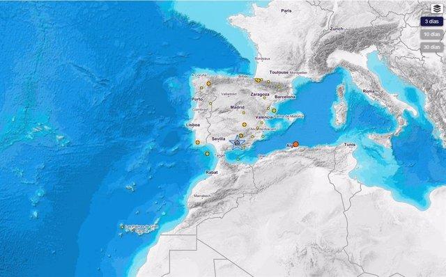 Granada.- Santa Fe registra la mayoría de terremotos de baja intensidad de las últimas horas