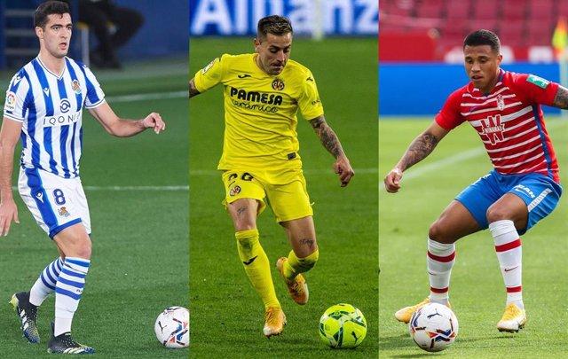 Fútbol/Liga Europa.- (Previa) Real, Villarreal y Granada retoman el sueño europeo ante United, Salzburgo y Nápoles