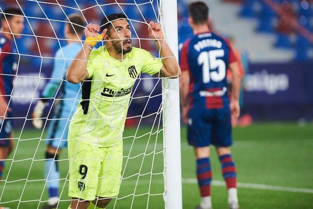 Fútbol/Primera.- Crónica del Levante - Atlético de Madrid, 1-1