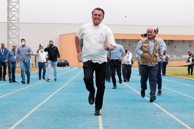Brazilian President Bolsonaro visits National Athletics Center