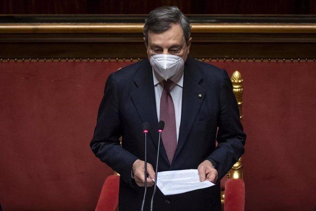 Italia.- Mario Draghi y su gabinete obtienen el amplio apoyo del Senado de Italia