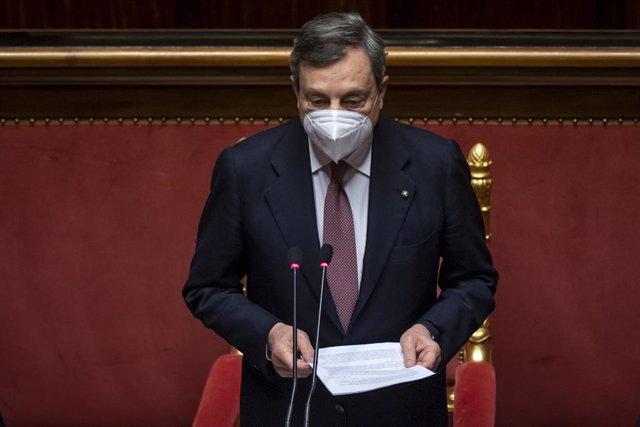 VÍDEO: Italia.- Mario Draghi y su gabinete obtienen el amplio apoyo del Senado de Italia