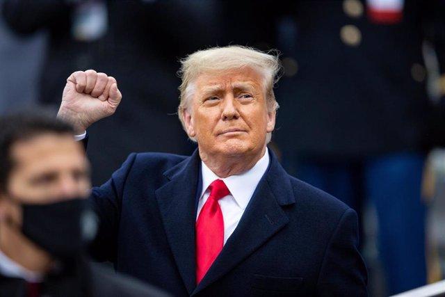 Archivo - EEUU.- Trump insiste con el fraude electoral en su primera entrevista desde que dejó la Casa Blanca