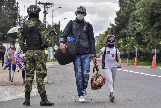Archivo - Un informe de la ONU revela que el 40% de migrantes venezolanos han sido desalojados durante la pandemia